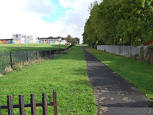 Ballochney Railway - Looking up the Thrushbush incline from Whinhall Road