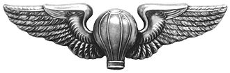 Obsolete badges of the United States military - Image: Ballon Pilot