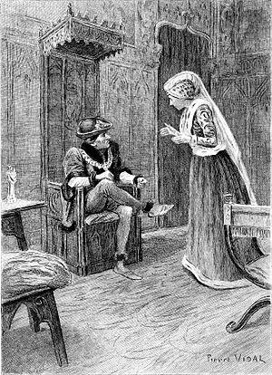 Le Chef-d'œuvre inconnu - Illustration by Pierre Vidal of a scene from Le Chef-d'œuvre inconnu