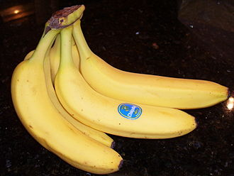 Label - A bunch of bananas with a label