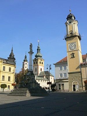 The centre of Banska Bystrica, Slovakia.