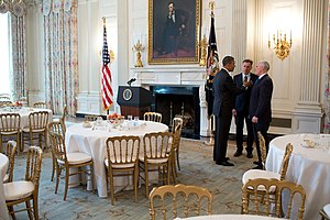Peter Shumlin - Shumlin meeting with Barack Obama and Mike Pence at the White House in 2013