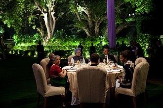Rahul Gandhi - President Barack Obama and First Lady Michelle Obama with Prime Minister Manmohan Singh, Gursharan Kaur, Pranab Mukherjee. Rahul Gandhi and Sonia Gandhi.
