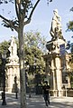 Barcelona - Passeig de Pujades - View East on Entrance to Parc de la Ciutadella - Statues to Progress, Industry and Commerce by Agapit Vallmitjana.jpg