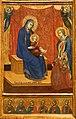 Barnaba da modena, incoronazione della vergine, trinità, madonna col bambino e crocifissione, 1374, 04.jpg