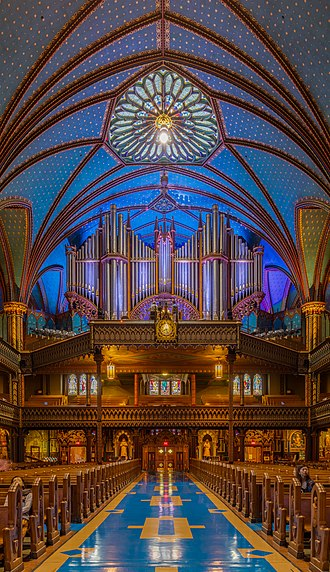 Notre-Dame Basilica (Montreal) - Casavant Frères pipe organ, dated 1891 at Notre-Dame Basilica