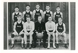 HMCS Hunter - HMCS Hunter Naval Reserve Basketball Team (Windsor) c. 1945