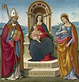 Bastiano Mainardi - Madonna and Child with St. Justus of Volterra and St. Margaret of Antioch. - 51.58 - Indianapolis Museum of Art.jpg
