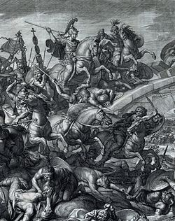 Battle at the Milvian Bridge, Gérard Audran after Charles Le Brun, 1666-crop.jpg