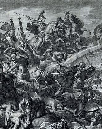 Battle of the Milvian Bridge - Battle at the Milvian Bridge, Audran after Le Brun