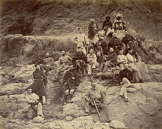 Second Anglo-Afghan War - British team at the site of the Battle of Ali Masjid
