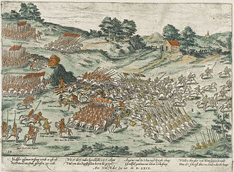 Françoise d'Orléans-Longueville - The Battle of Jarnac where Françoise's husband was killed and the Huguenot army defeated by the Catholic forces