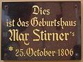 Bayreuth Maximilianstrasse 31, Geburtshaus Max Stirner, Gedenktafel, 09.06.06.jpg