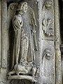 Bazas (33) Cathédrale Saint-Jean-Baptiste Façade ouest Portail central 1ère voussure 10.JPG