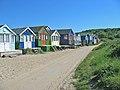 Beach huts on sand spit below Hengistbury Head Dorset - geograph.org.uk - 184313.jpg