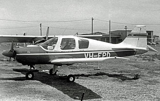Beagle Pup - Pup Series 2 with a 150 h.p. engine at Sydney Airport in October 1970