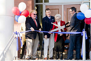 Opening ceremony - Ribbon-cutting ceremonies often involve a comically oversized pair of scissors good for little else.