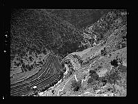Beit Ed-Din. The Shehab Palace (held as a national monument). Lebanon. The Damour valley. Forest and terraced cultivation LOC matpc.15458.jpg