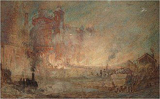 Losh, Wilson and Bell - Painting of Bell Brothers Ironworks at Port Clarence by Albert Goodwin