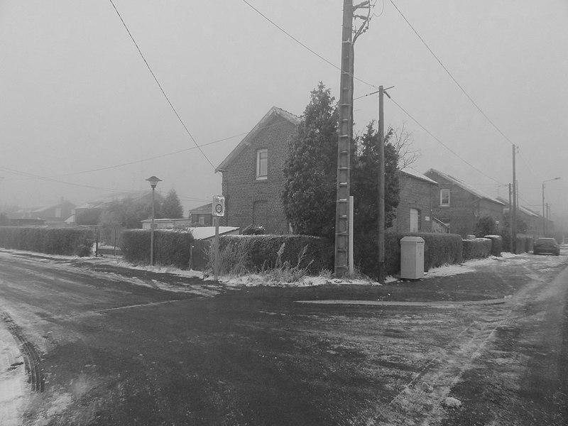 Cité de Bellaing de la fosse Arenberg de la Compagnie des mines d'Anzin dans le bassin minier du Nord-Pas-de-Calais, Bellaing, Nord, Nord-Pas-de-Calais, France. La cité de Bellaing est inscrite sur la liste du patrimoine mondial par l'Unesco le 30 juin 2012 et y constitue en partie le site no 15.