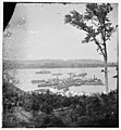 Belle Plain Landing, Virginia. View of camp and transports. (Lower landing). (Photo taken near Bull Bluff?) LOC cwpb.01795.jpg