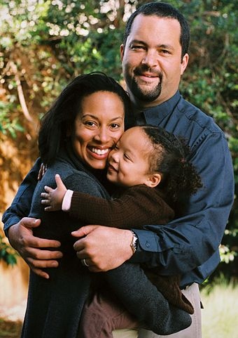 NAACP President Benjamin Jealous is the son of a white father and a black mother BenToddJealousFamily.jpg
