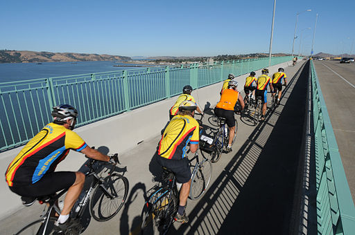 Benicia-Martinez Bridge bicyclists