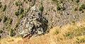Bergtocht van Gimillan (1805m.) naar Colle Tsa Sètse in Cogne Valley (Italië). Zicht op grote vrijstaande rots 01.jpg