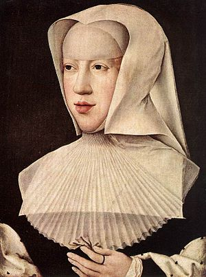 Margaret of Austria, Duchess of Savoy - Portrait of Margaret as a widow painted by Bernard van Orley