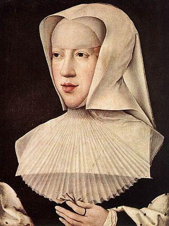 Margaret of Austria, Duchess of Savoy - Portrait of Margaret as a widow painted by Bernard van Orley