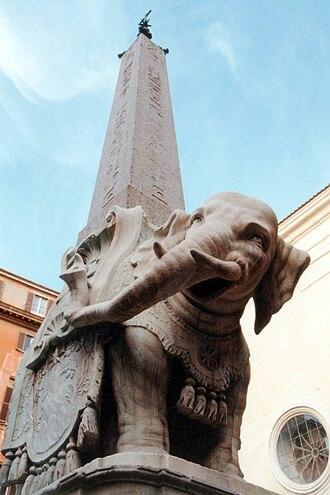 Elephant and Obelisk - Image: Berninis Elefant 1994 Ro Frisch