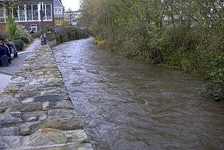 Lighter in flood in Betzdorf