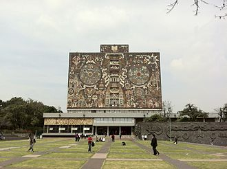 Mexican Movement of 1968 - Ciudad Universitaria, site of the UNAM campus, main library