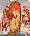 Bibliothèque nationale de France - Bible de Vivien Ms. Latin 1 folio 423r détail Le comte Vivien offre le manuscrit de la Bible faite à l'abbaye de Saint-Martin de Tours à Charles le Chauve.jpg