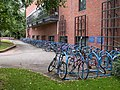Bicycle racks at Robinson College - geograph.org.uk - 901765.jpg