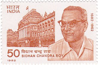 Bidhan Chandra Roy - Bidhan Chandra Roy on a 1982 stamp of India