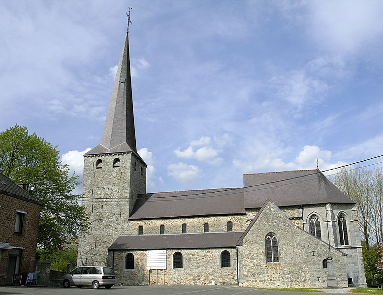 Biesme  (Belgium), the St.Martin church (XIVth century).