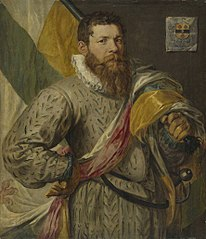Portrait of Hendrick Jansz. Spijcker, called De Veer, as Flag Bearer