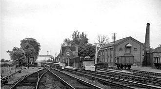 Bingham railway station - Bingham station on 13 July 1963