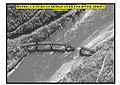 Bistrica railroad bridge over LIm river Serbia post strike damage presentation at briefing May 1 1999.jpg