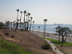 Bixby Park in the eastern section of Alamitos Beach