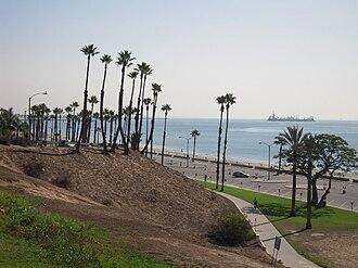 Alamitos Beach, Long Beach, California - Bixby Park and the beach, at Alamitos Beach.