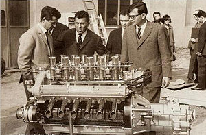 Giotto Bizzarrini - Giotto Bizzarrini (left) with Ferruccio Lamborghini (center) and Gian Paolo Dallara (right) in 1963