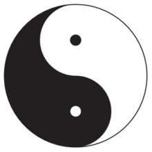 "Yin Yang, central symbol of ancient Chinese philosophy Taoism, sometimes referred to as ""Taijitu."""