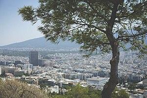Mount Lycabettus - Image: Blick vom Lykavittos auf Athen View from Lykavittos Hill over Athens