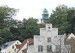 Blick von der Angelburger Straße hoch zum Turm der Auguste-Viktoria-Schule, Flensburg, September 2013.JPG