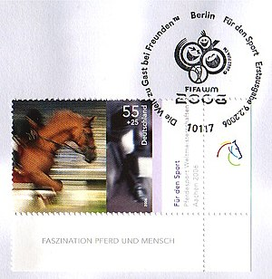 2006 FEI World Equestrian Games - Deutsche Post issued a stamp in recognition of the 2006 Games.