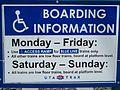 Boarding infomation sign for Blue Line.JPG