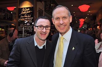 Richard Di Natale - Di Natale with Senator Bob Brown in Melbourne during the 2010 federal election campaign.