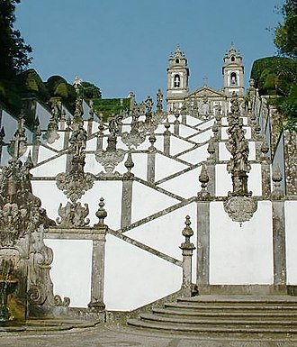 Bom Jesus do Monte - Stairway and church of Bom Jesus do Monte